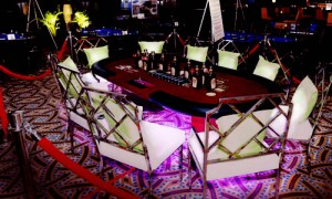 LED casino table at Casino Party Planners
