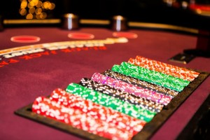 Gorgeous casino party tables for rent