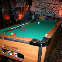 pool table at a casino party event