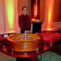 roulette table at a casino party