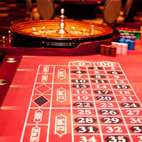 roulette table at casino party event